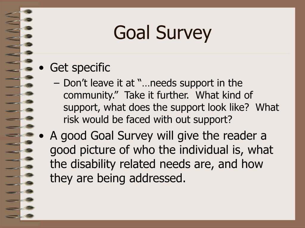 Goal Survey