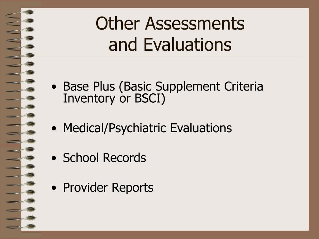 Other Assessments