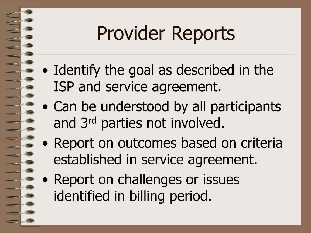 Provider Reports