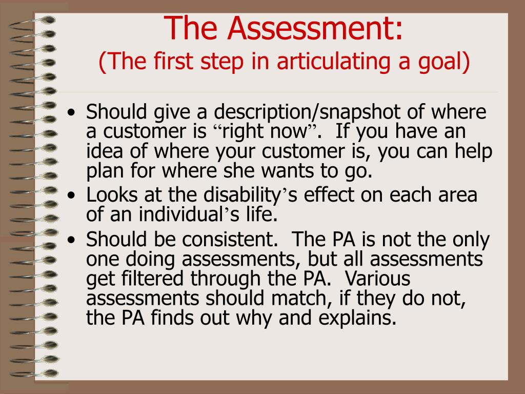 The Assessment: