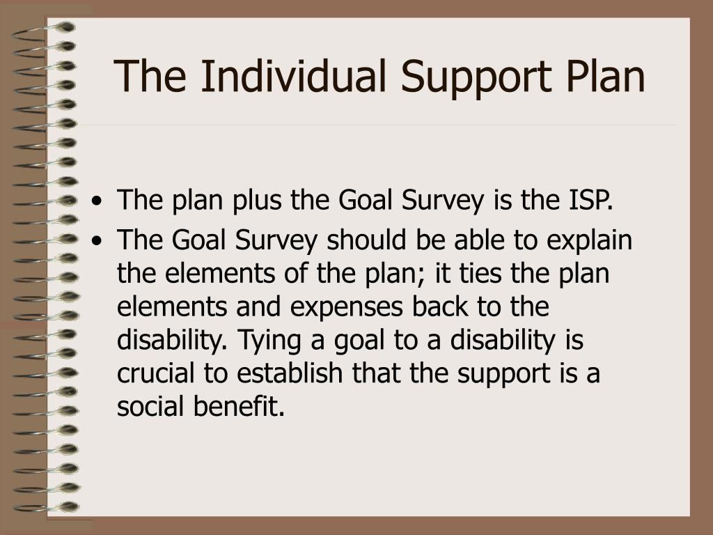 The Individual Support Plan