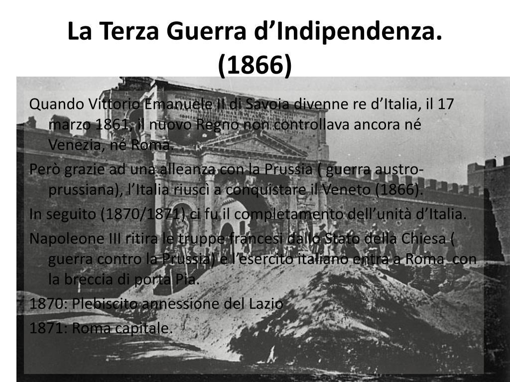 La Terza Guerra d'Indipendenza. (1866)