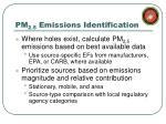 pm 2 5 emissions identification