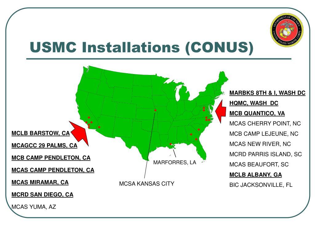 USMC Installations (CONUS)