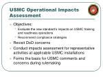 usmc operational impacts assessment
