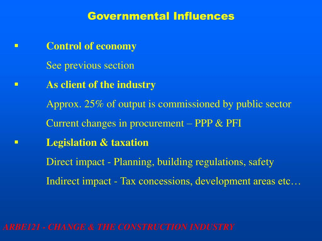 Governmental Influences