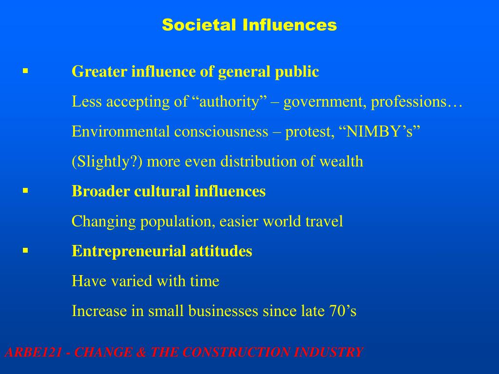 Societal Influences