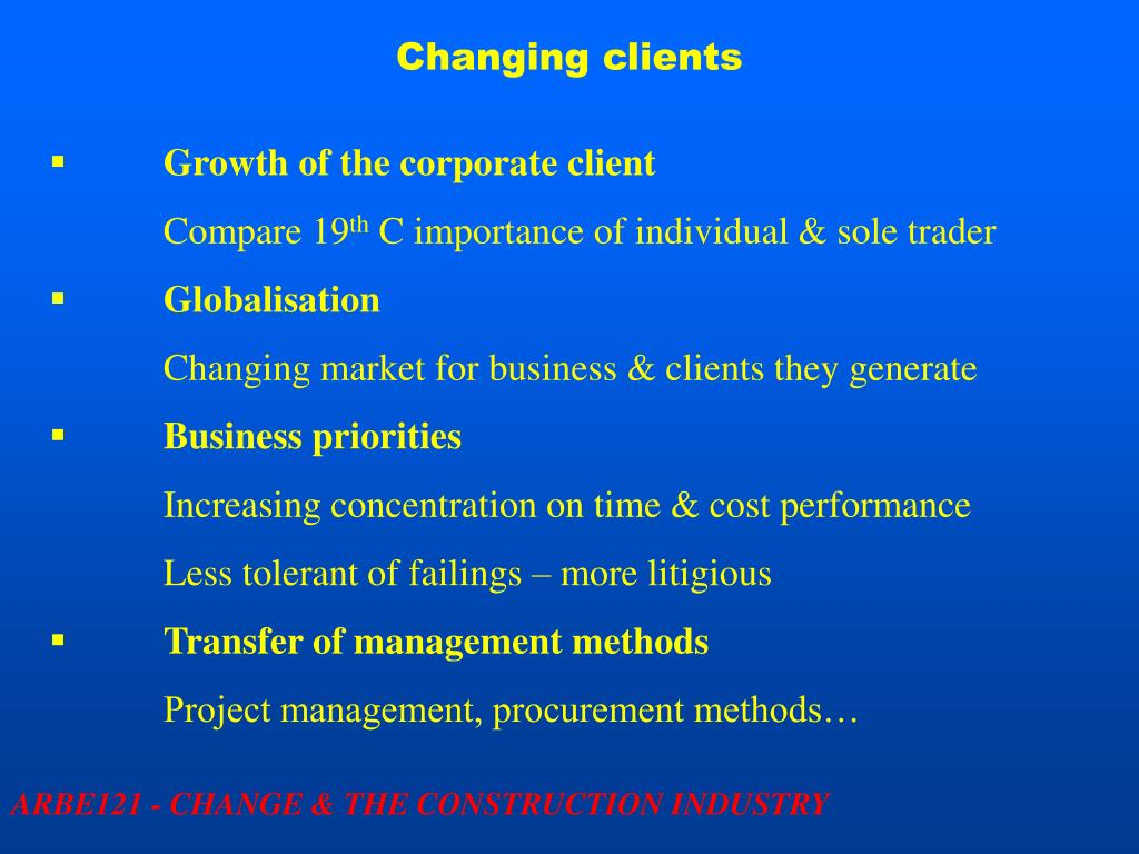 Changing clients