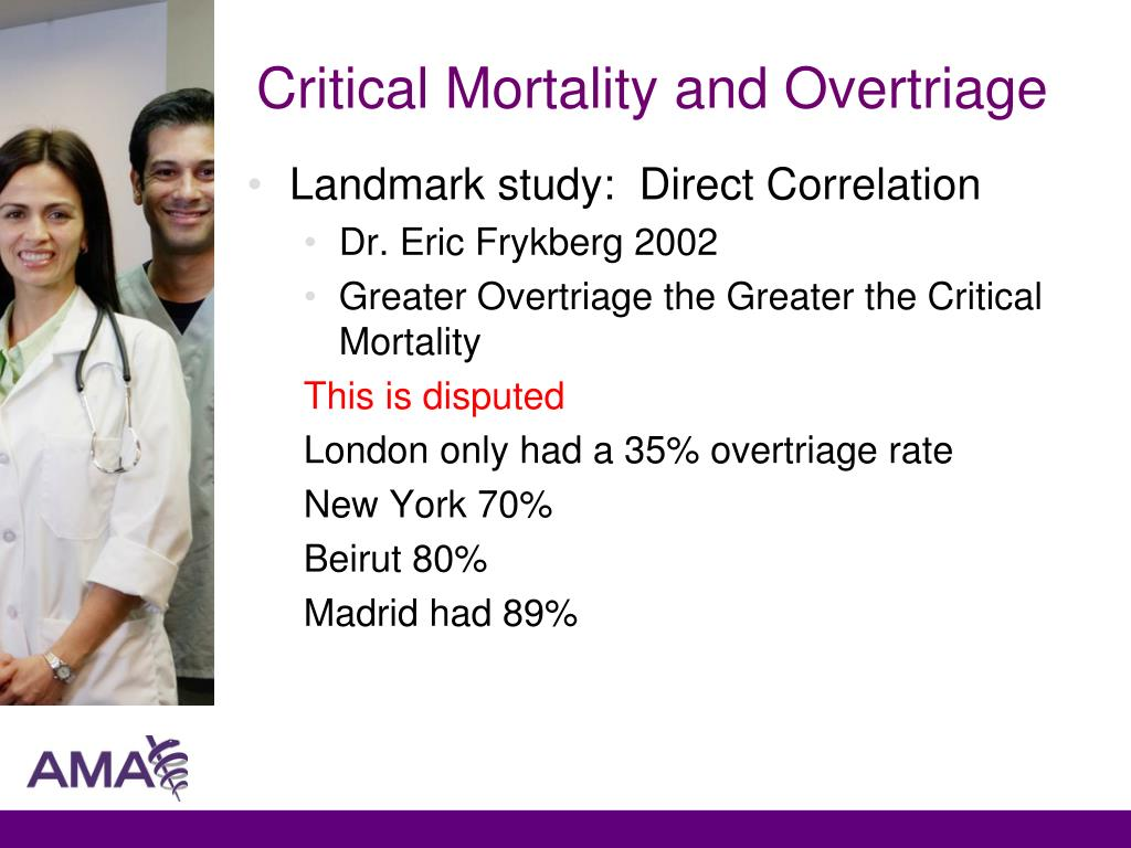 Critical Mortality and Overtriage