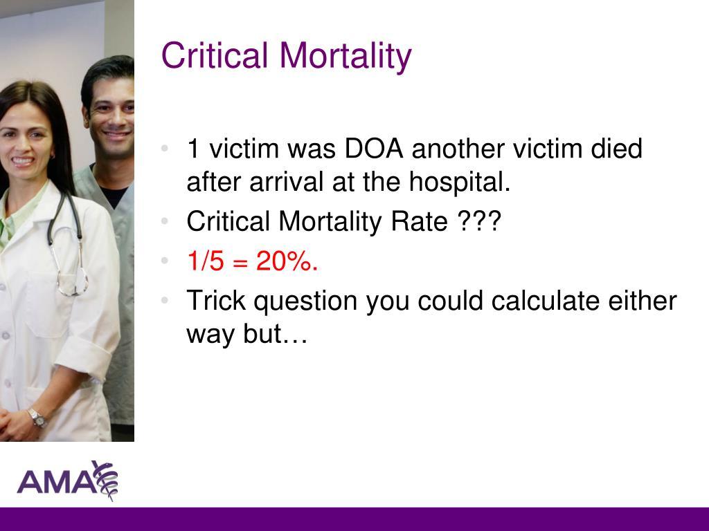 Critical Mortality