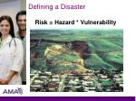defining a disaster