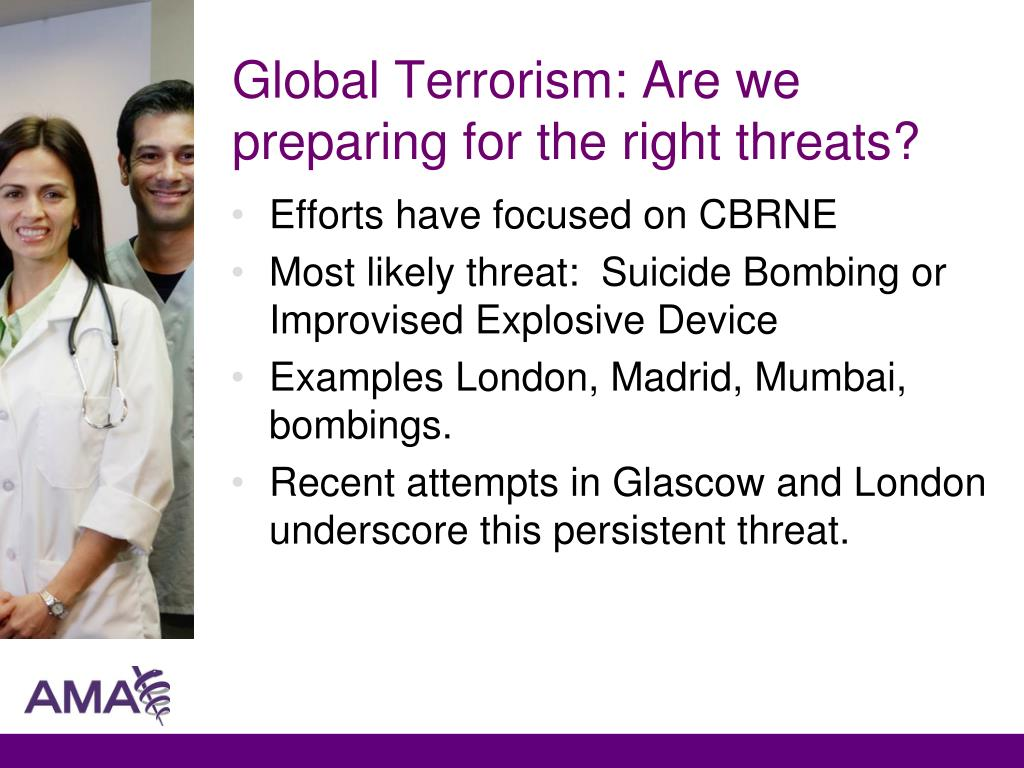 Global Terrorism: Are we preparing for the right threats?
