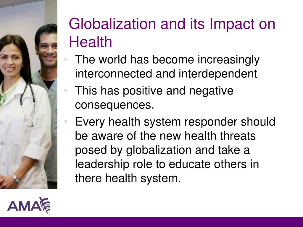 Globalization and its Impact on Health