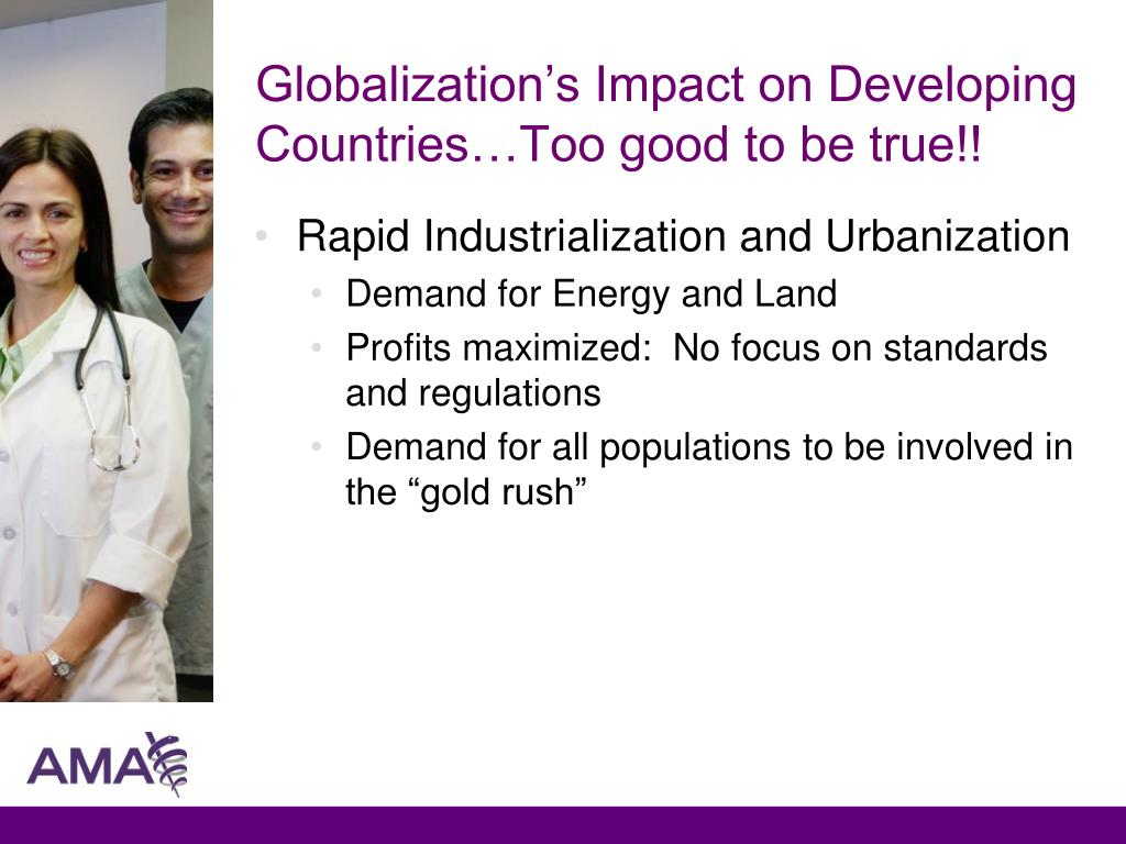 Globalization's Impact on Developing Countries…Too good to be true!!