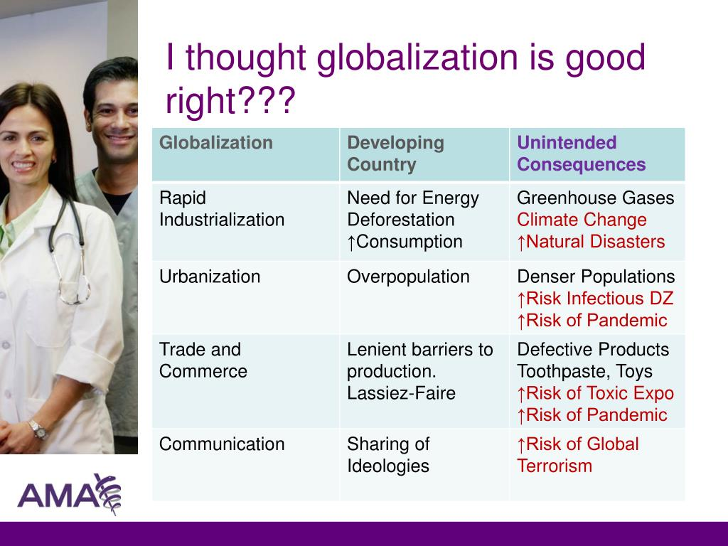 I thought globalization is good right???