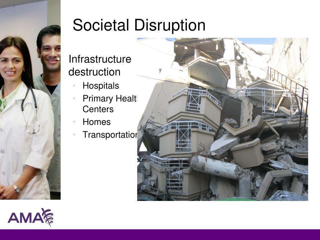 Societal Disruption