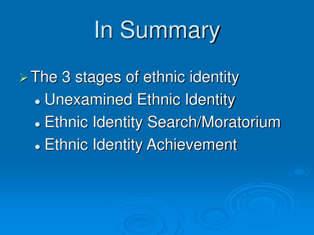 ethnic identites Ethnic identity ethnic identity, or ethnicity, is a set of institutions that bind people together through a common culture the components of ethnicity vary from nation to nation but may include language, religion, geographic location, customs, and history, among other factors.