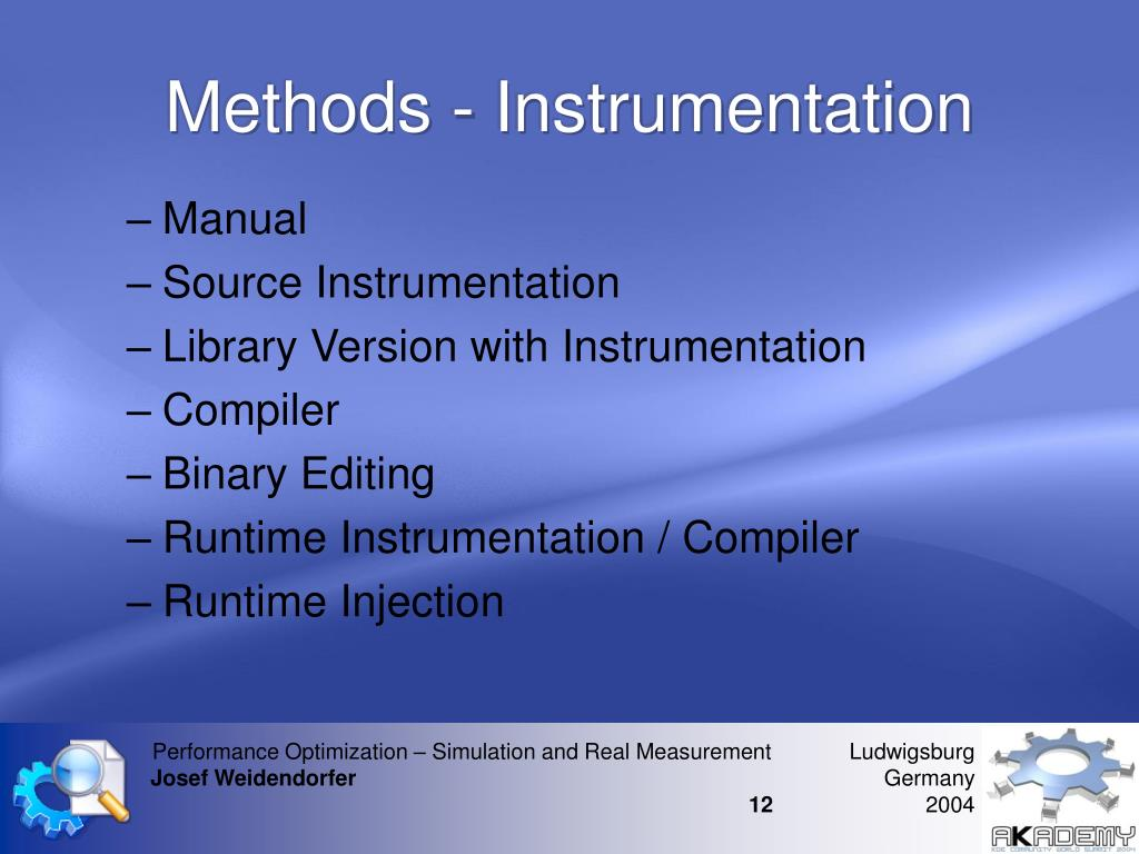 Methods - Instrumentation