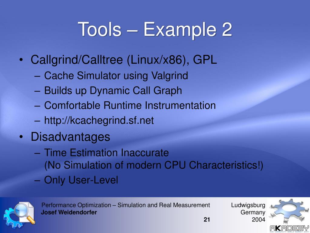 Tools – Example 2