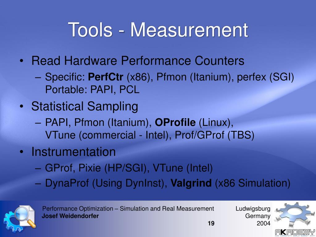 Tools - Measurement