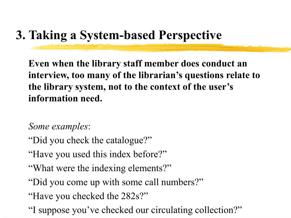 3. Taking a System-based Perspective