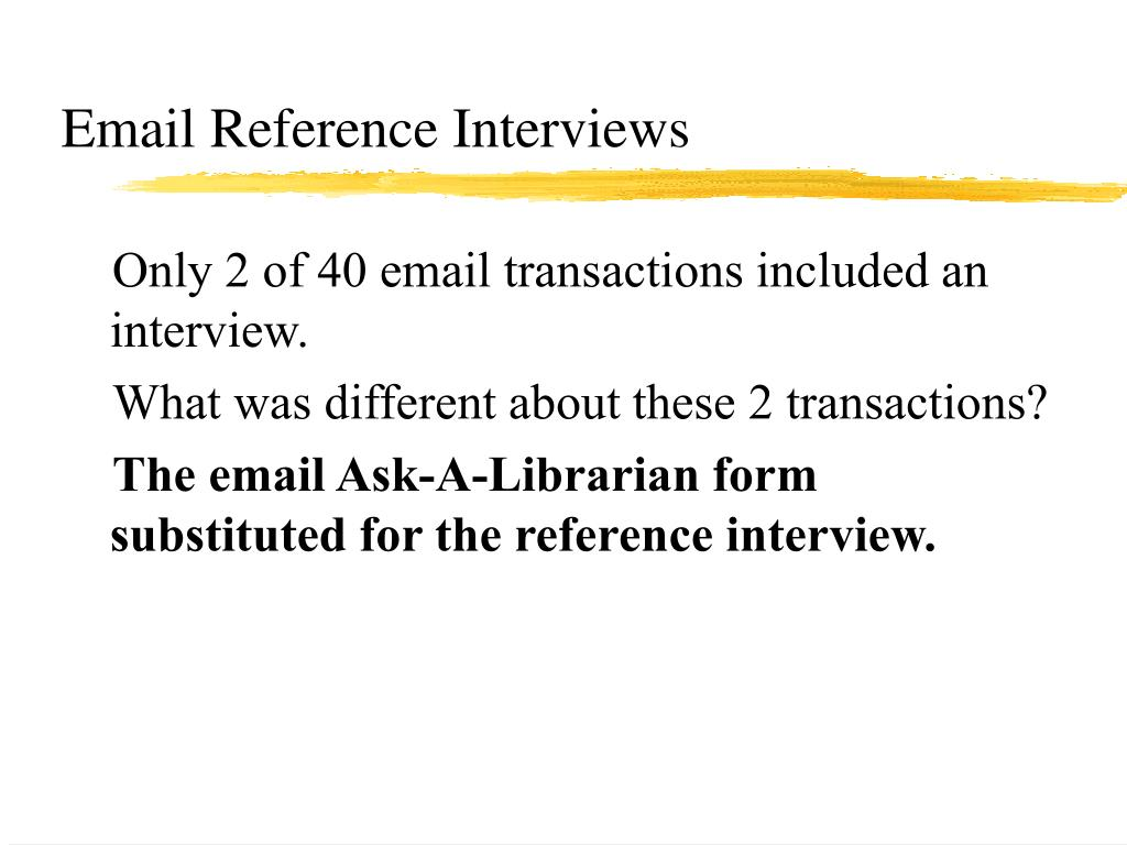 Email Reference Interviews