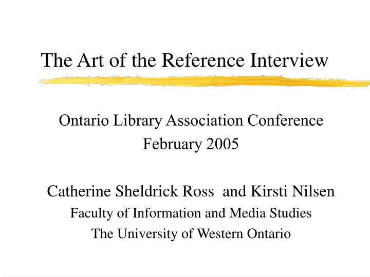 The art of the reference interview l.jpg
