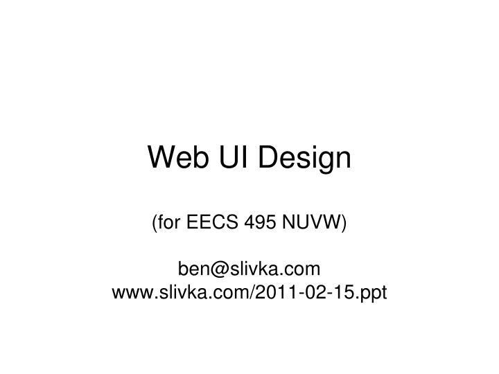 Web ui design l.jpg