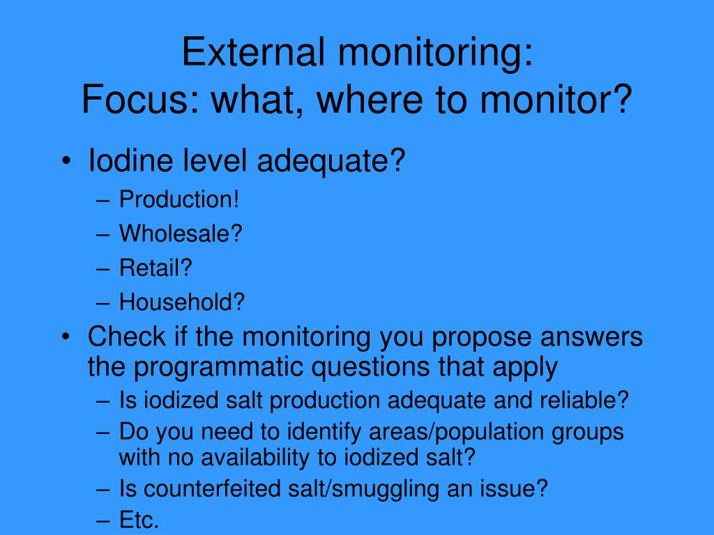 External monitoring: