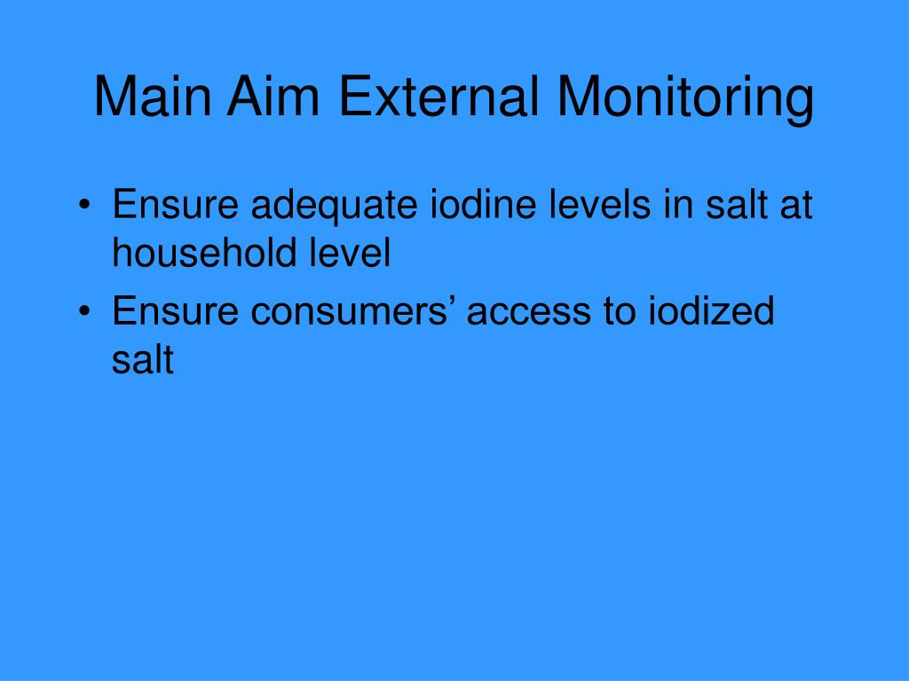 Main Aim External Monitoring
