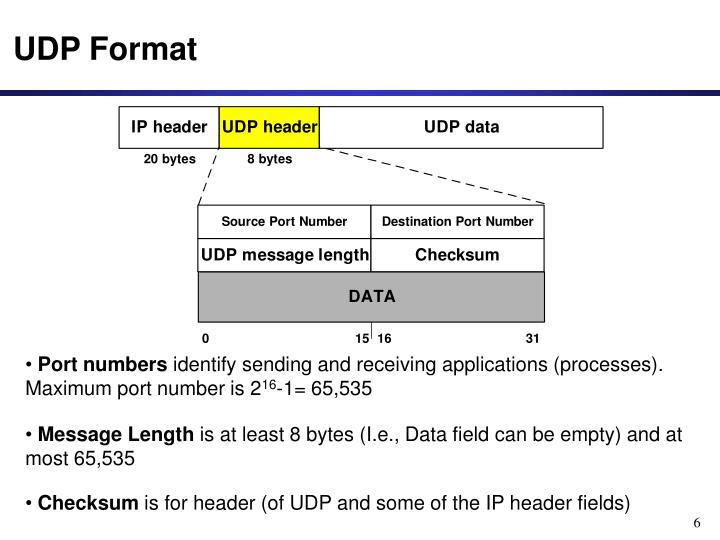 UDP Format