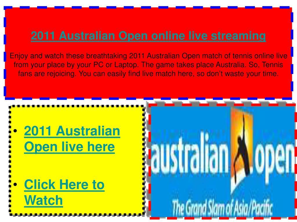 2011 Australian Open online live streaming