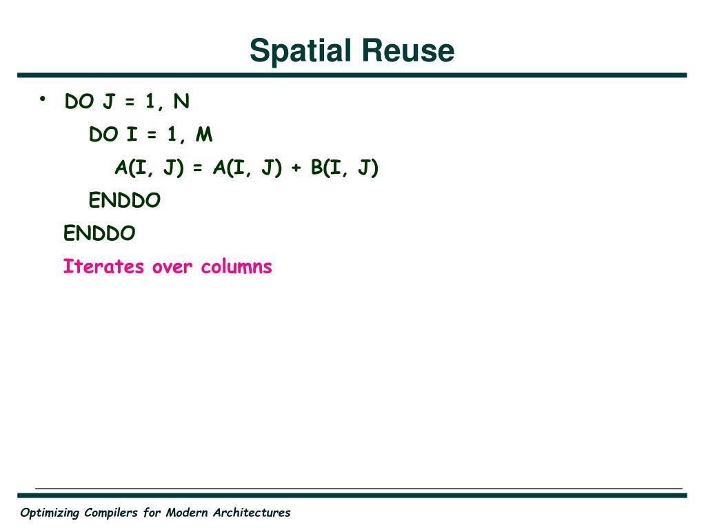 Spatial Reuse
