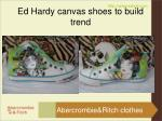 ed hardy canvas shoes to build trend