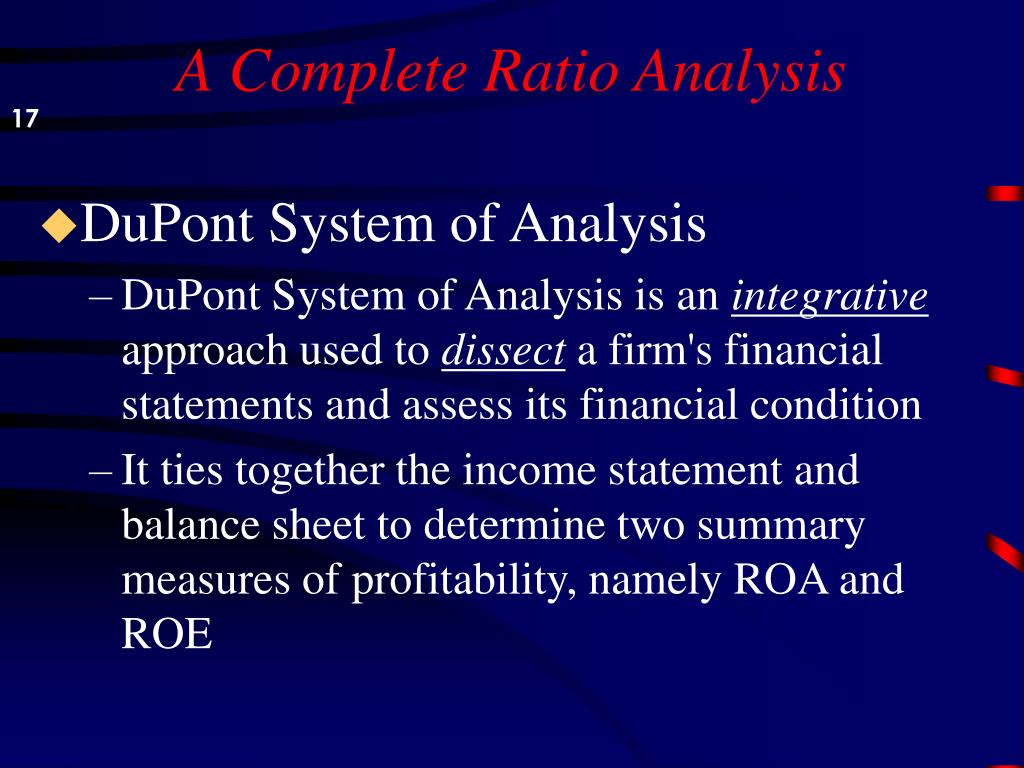 A Complete Ratio Analysis