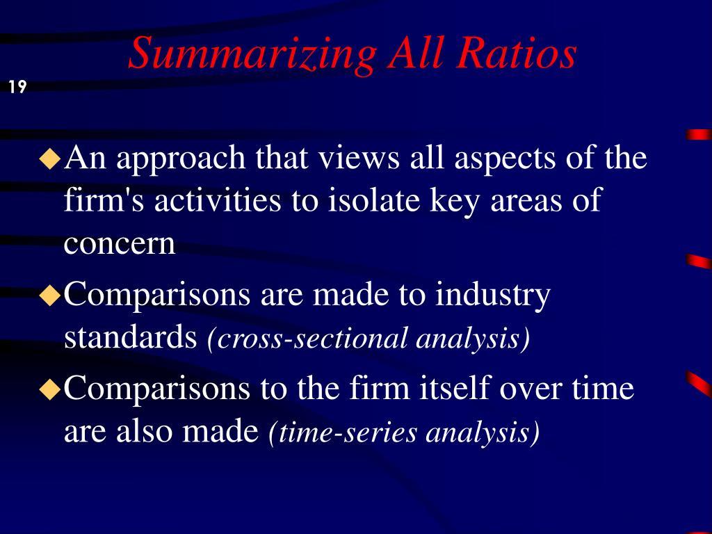 Summarizing All Ratios