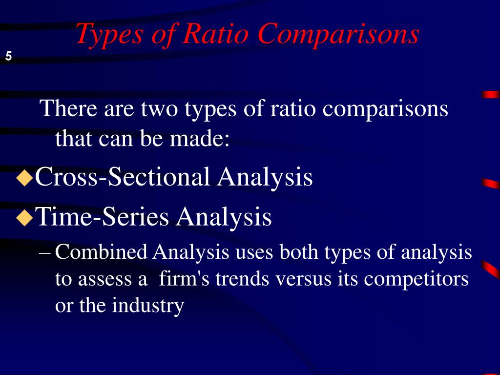 Types of Ratio Comparisons