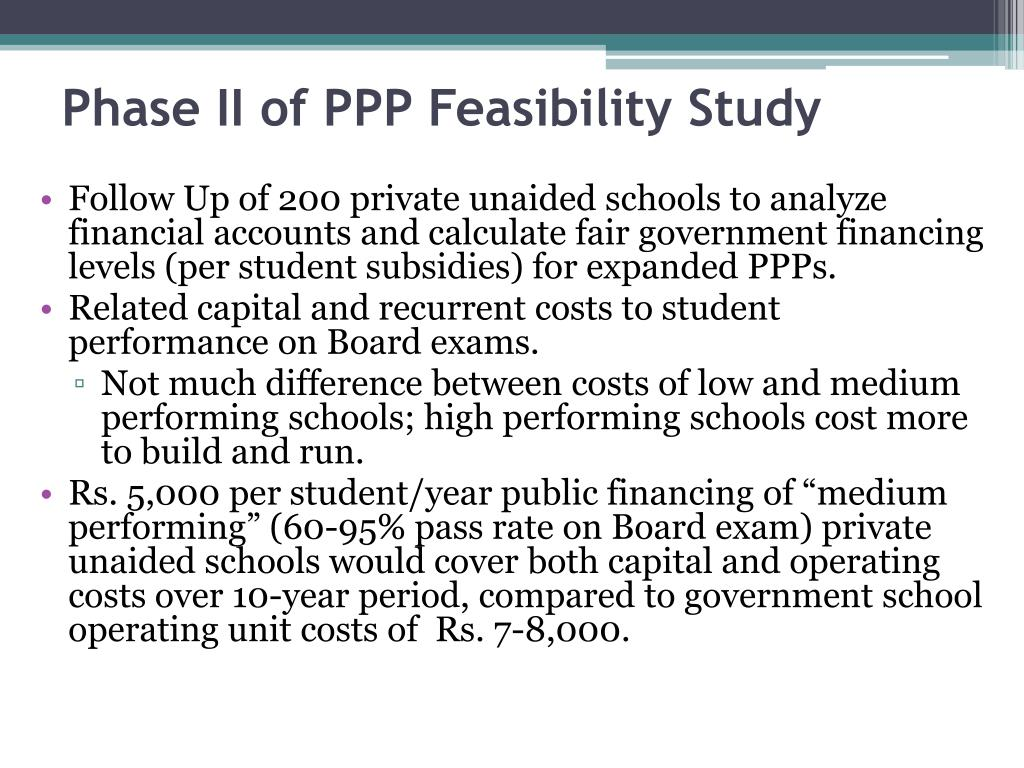 Phase II of PPP Feasibility Study