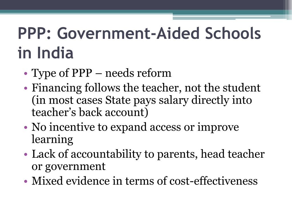 PPP: Government-Aided Schools in India