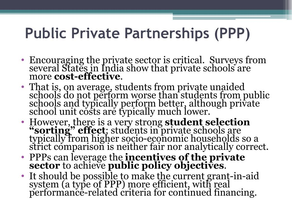 Public Private Partnerships (PPP)