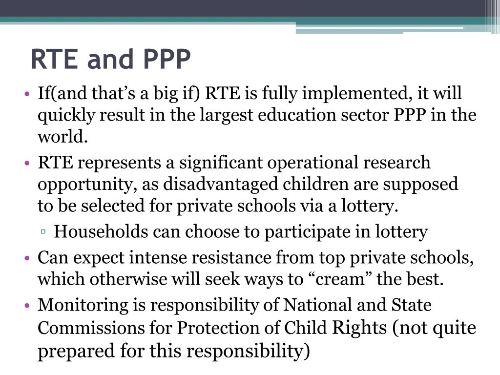 RTE and PPP
