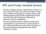 rte and private unaided schools