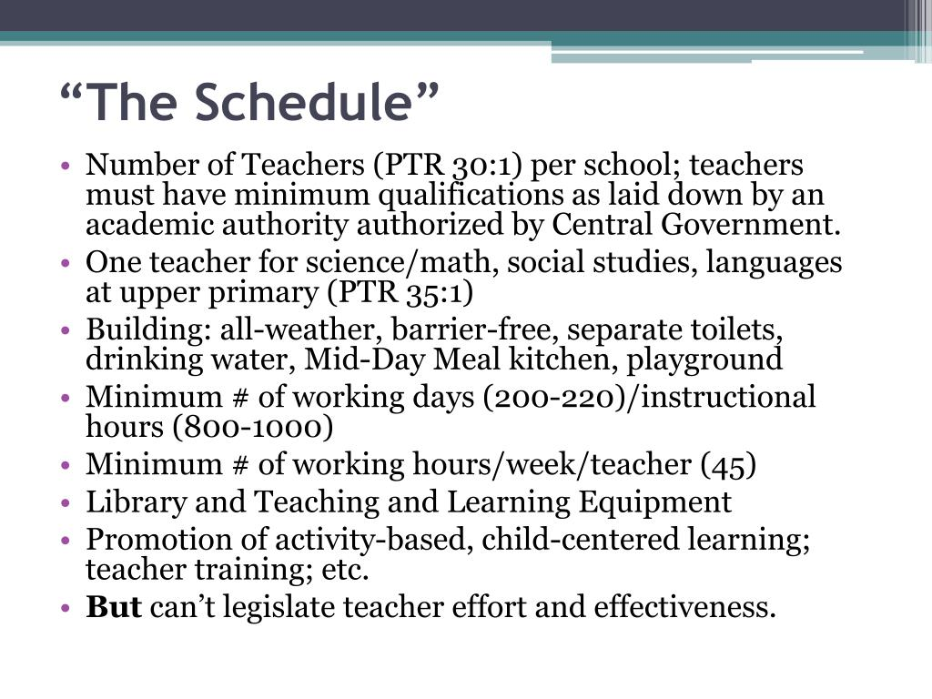 """""""The Schedule"""""""