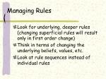 managing rules