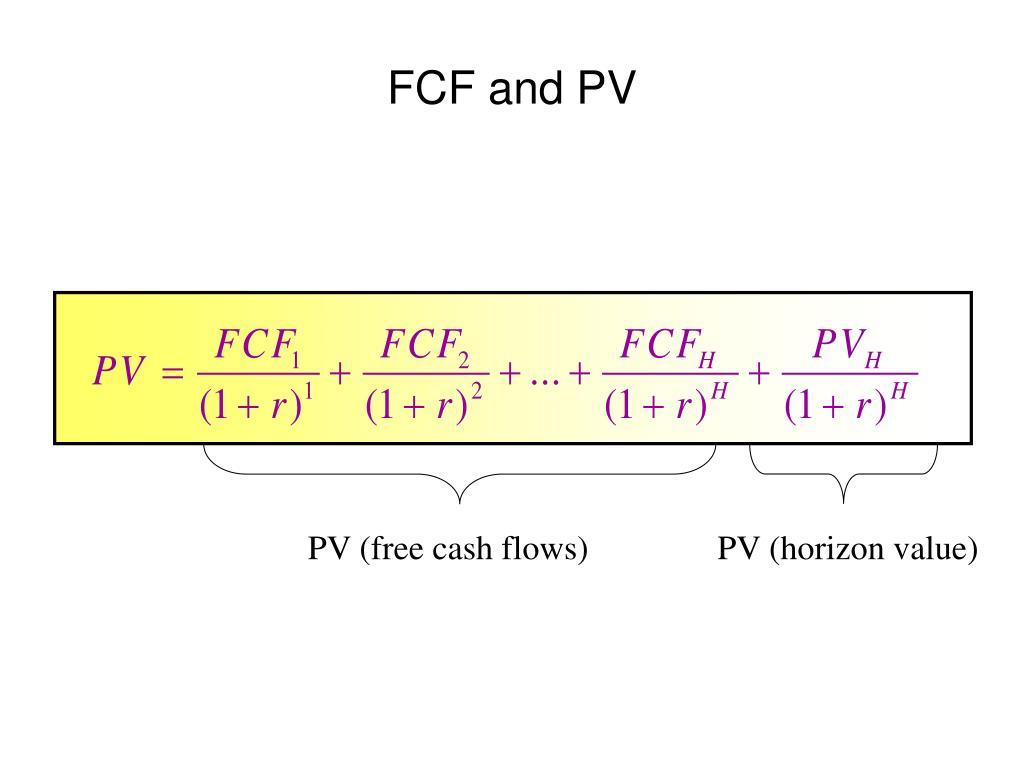 PV (free cash flows)