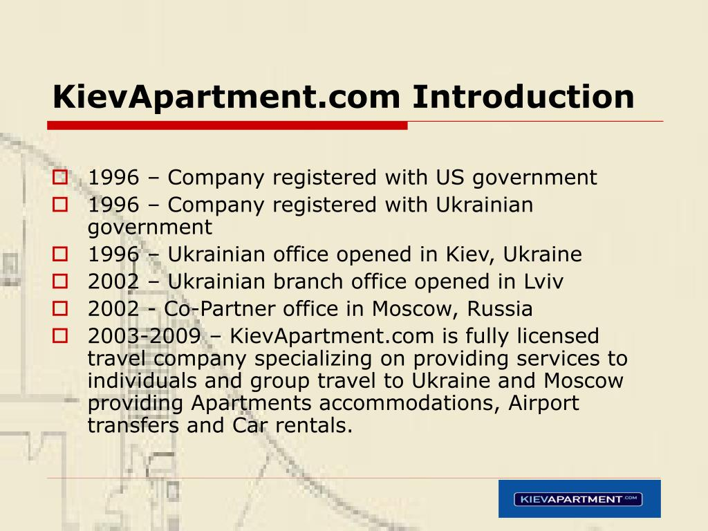 KievApartment.com Introduction