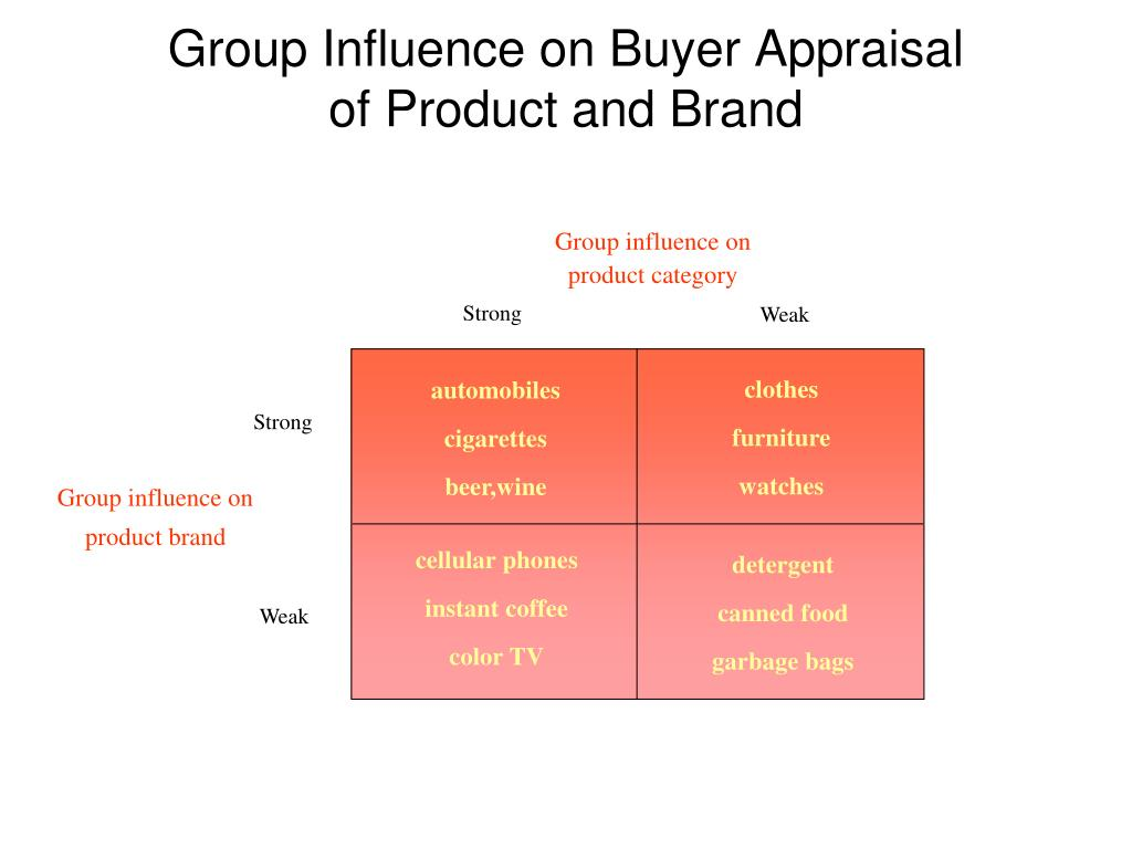 Group influence on product category