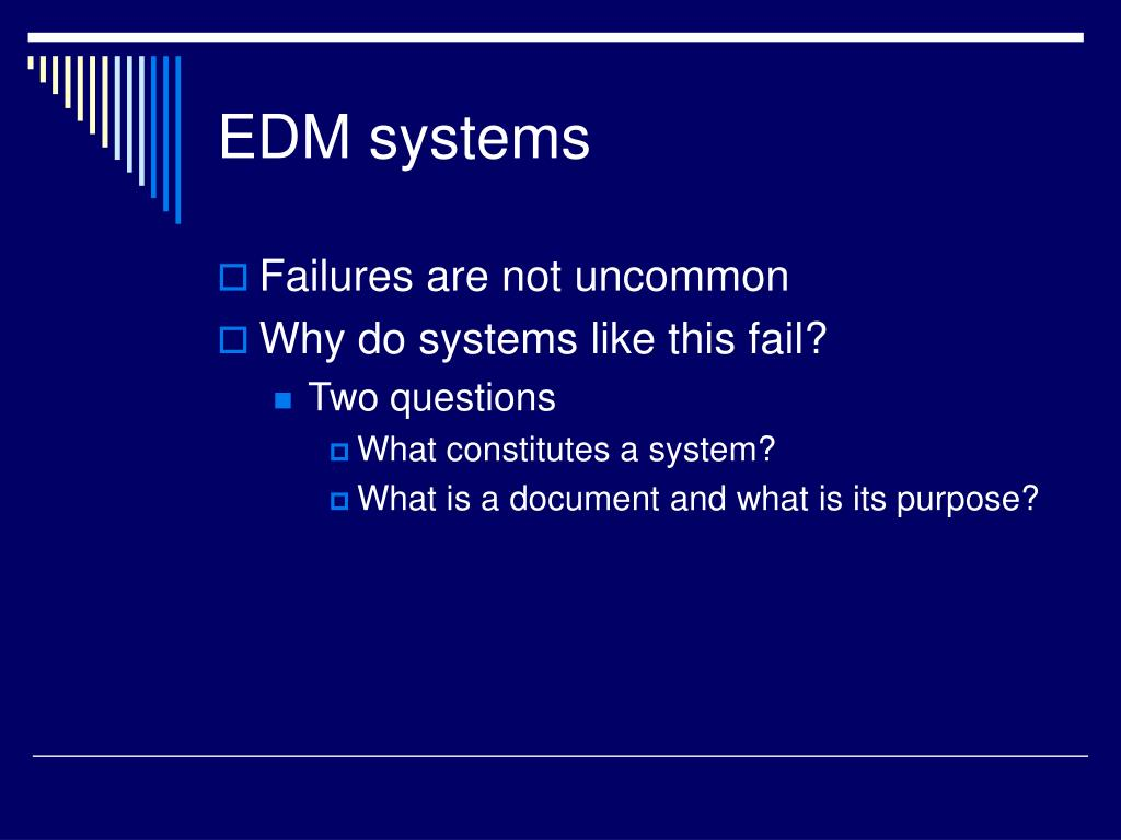 EDM systems