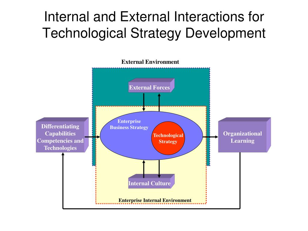 Internal and External Interactions for Technological Strategy Development