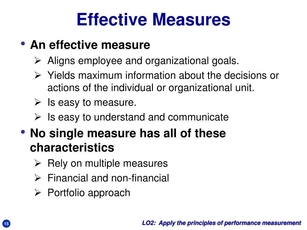 Effective Measures